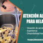 atencion al cliente para heladeria trabajo rosario