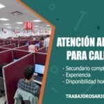 atencion al cliente para call center trabajo rosario